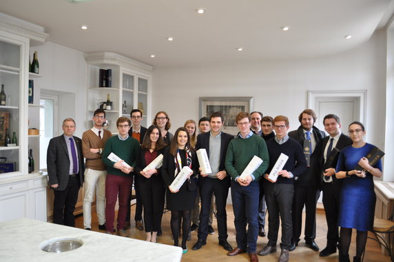 Blind tasting match bewteen the most prestigious French schools and universities - January 22nd 2016 Champagne Pol Roger